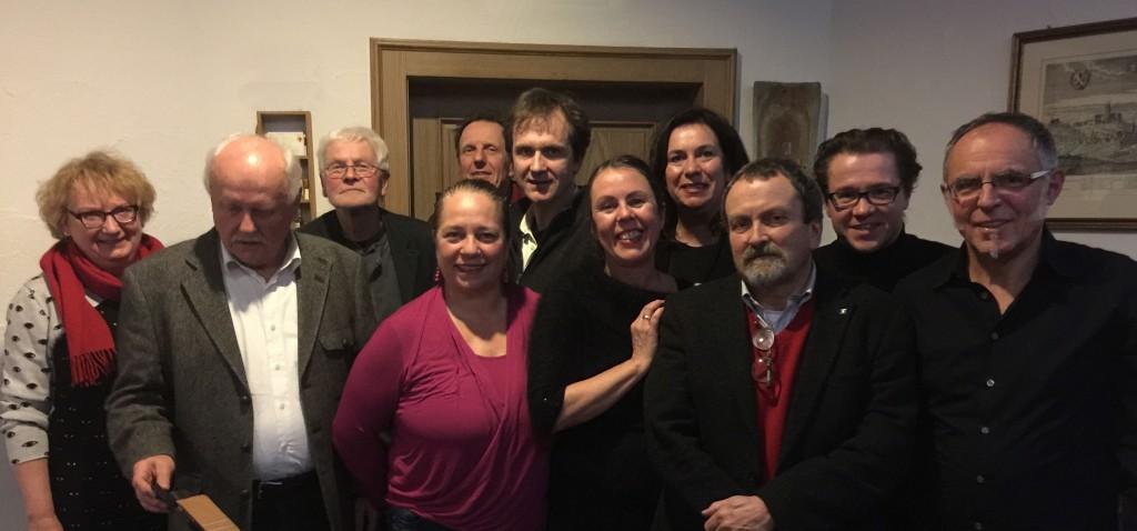 v.l.n.r. Dr. Barbara Kahle (#KunstvereinBamberg), Heinz Töppner (Kassenwart), Rainer Bauernschmitt (Beirat), Daniela Reinfelder (Kassenprüferin), Bernd Wagenhäuser (Beirat), Gerhard Schlötzer (#BBKOberfranken), ChristianeToewe (2. Vorsitzende), Gisela Schlenker (Schriftführerin), Dr. Ulrich Kahle (1. Vorsitzender), Christian Reinhardt (Beirat), Michael Fröhlcke (Kassenprüfer). Nicht im Bild Christoph Gatz (Architekturtreff Bamberg)